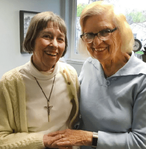 "Image of Sister Gail with ""Sally"""